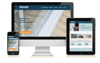 De nieuwe website van Benard is een professionele website